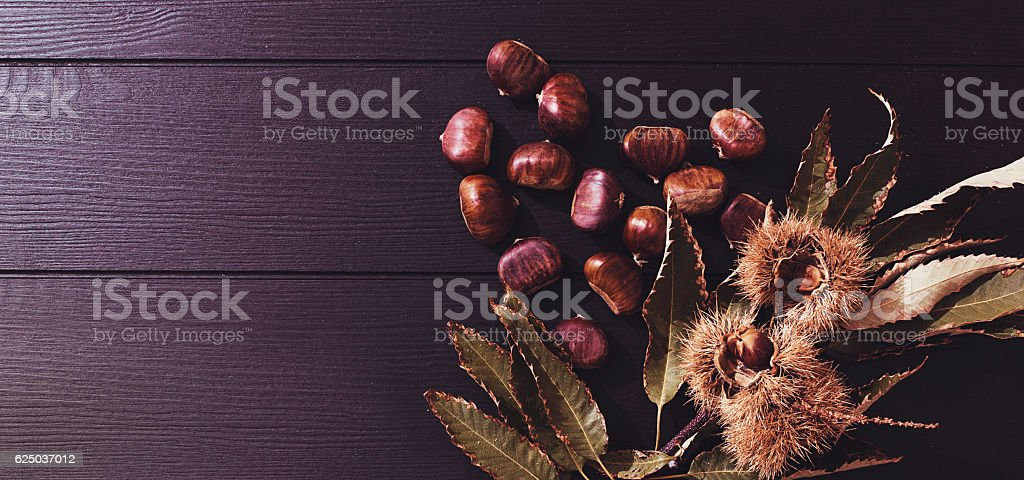 fresh chestnuts stock photo