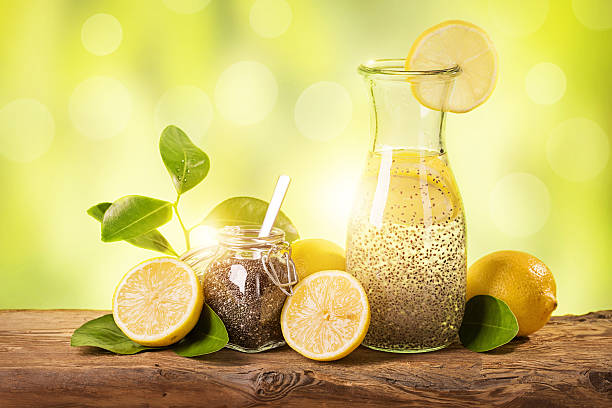 chia fresca - chia seed stock photos and pictures