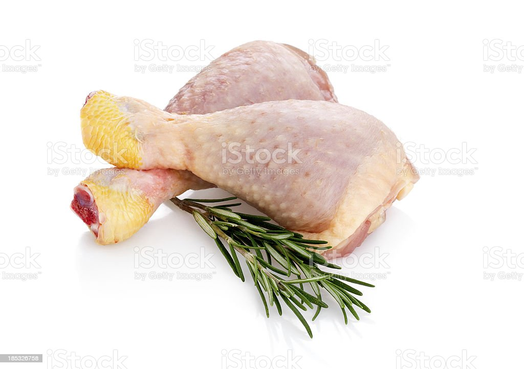 Fresh Chicken Legs (Clipping Path) stock photo