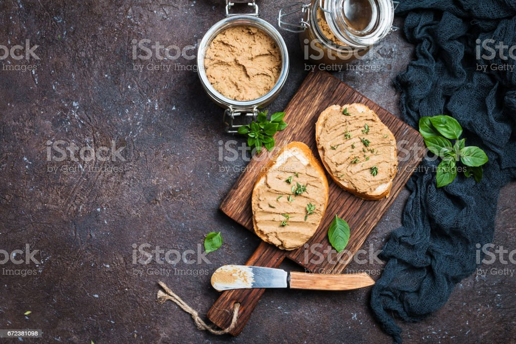 Fresh chicken liver pate stock photo