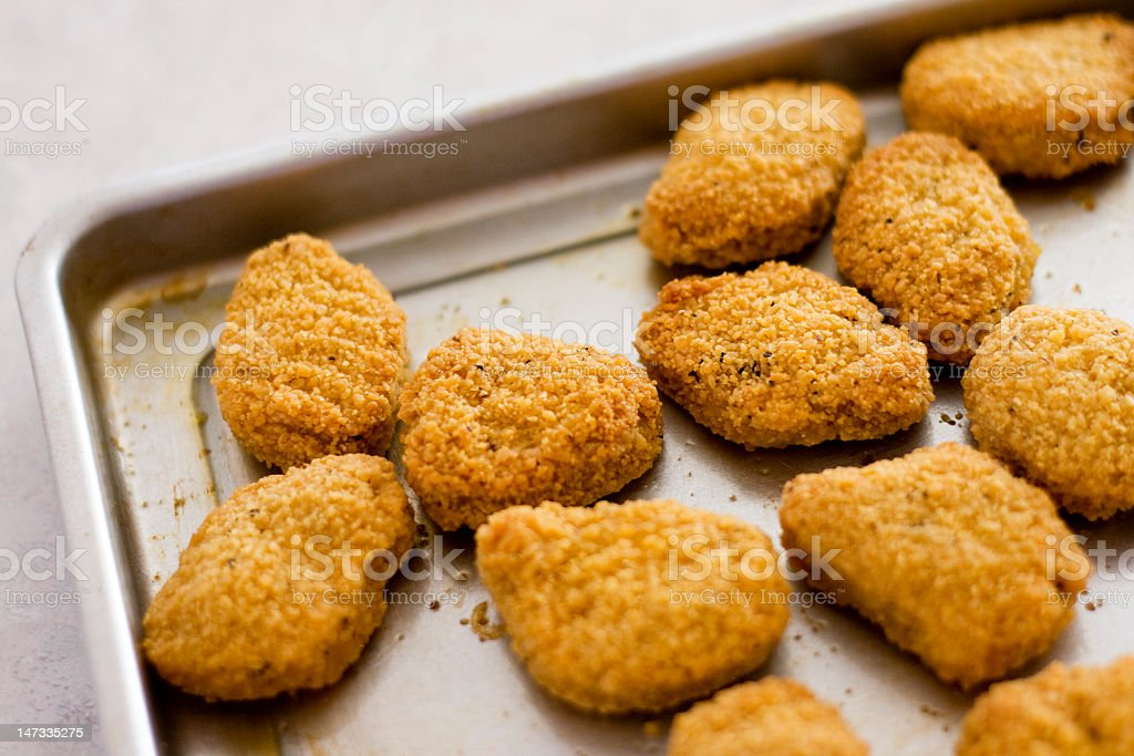 Fresh Chicken Nuggets royalty-free stock photo