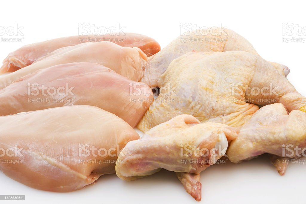 Fresh Chicken Pieces royalty-free stock photo