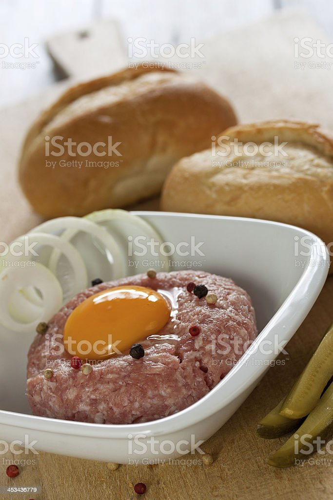 frisches gehacktes stock photo