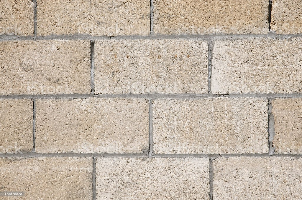 Fresh Cinderblock and Mortar Background royalty-free stock photo