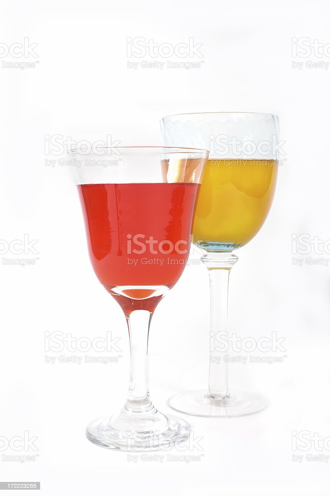 Fresh citrus drinks on a white background royalty-free stock photo