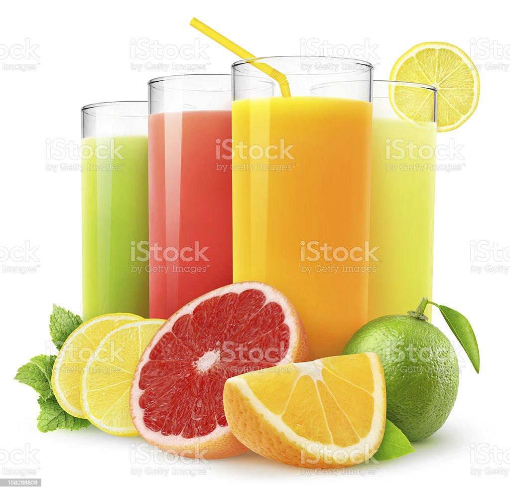 citrus jugos frescos - Foto de stock de Zumo libre de derechos