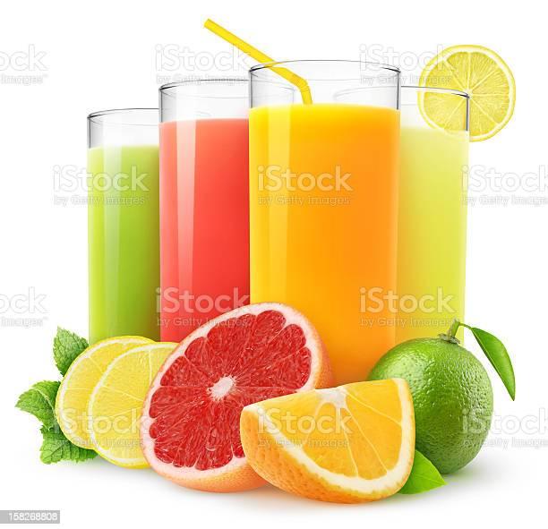 Citrus Jugos Frescos Foto de stock y más banco de imágenes de Zumo