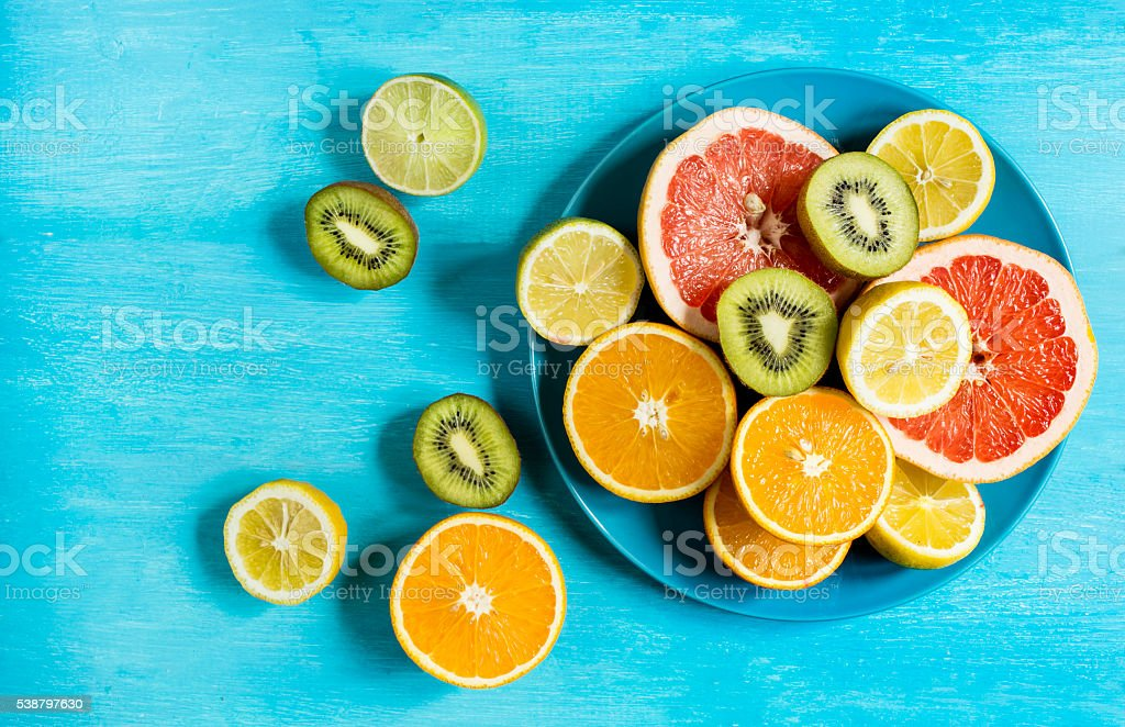 Fresh citrus mood stock photo
