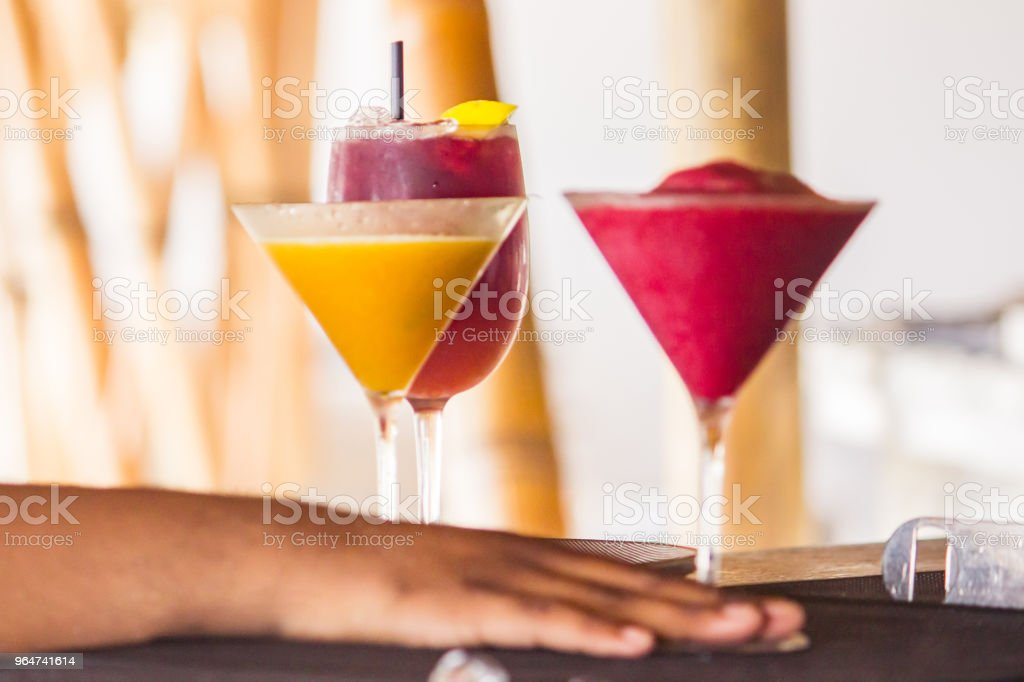 Fresh cocktails in summer royalty-free stock photo