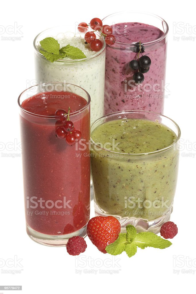 Fresh cocktails with berries royalty-free stock photo
