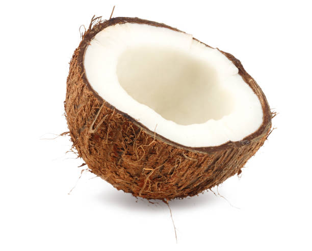 fresh coconut isolated on a white background stock photo