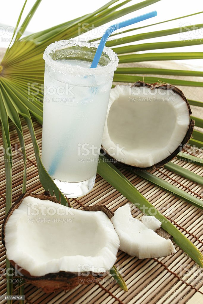Fresh coconut milk. royalty-free stock photo