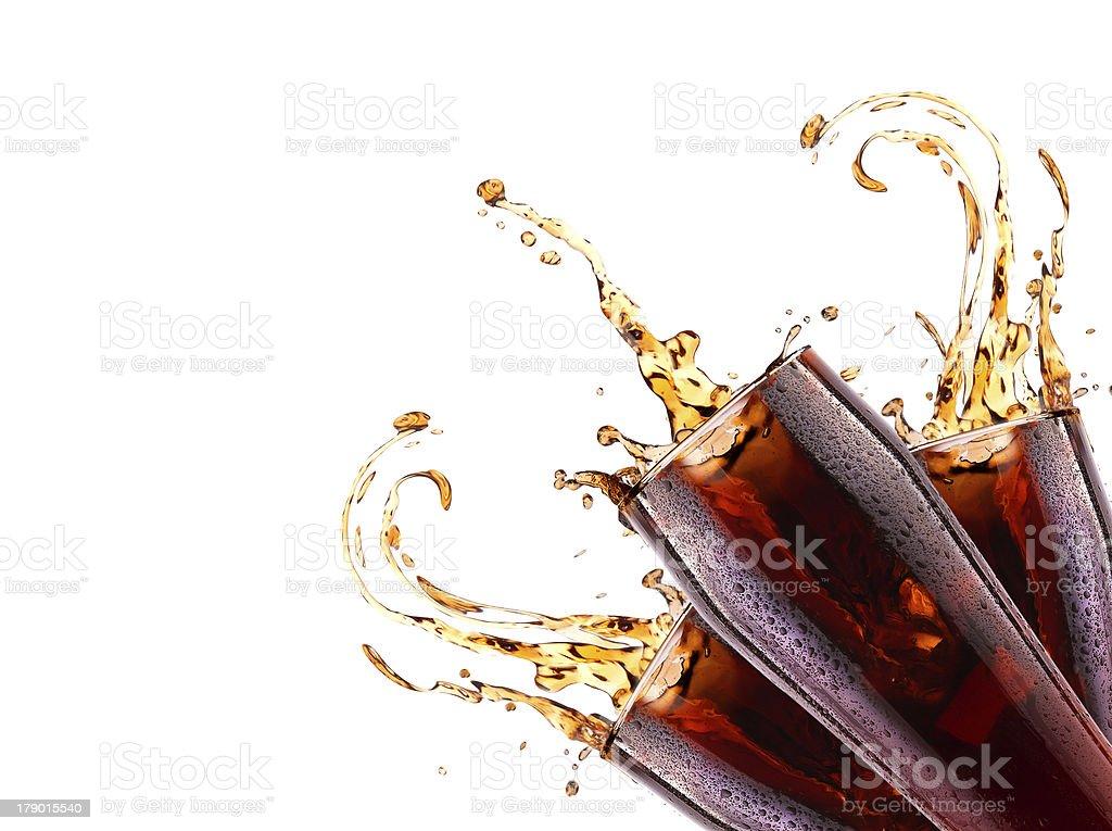 Fresh cola drink background with splash royalty-free stock photo