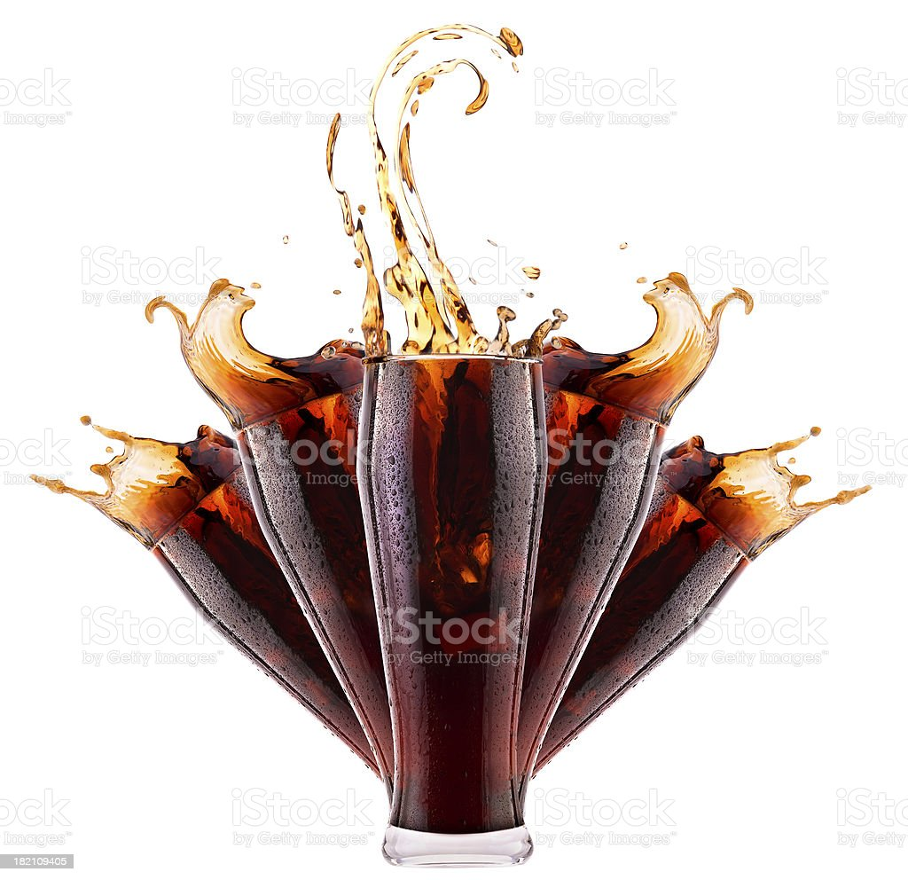 Fresh cola drink background with splash royalty-free stock photo
