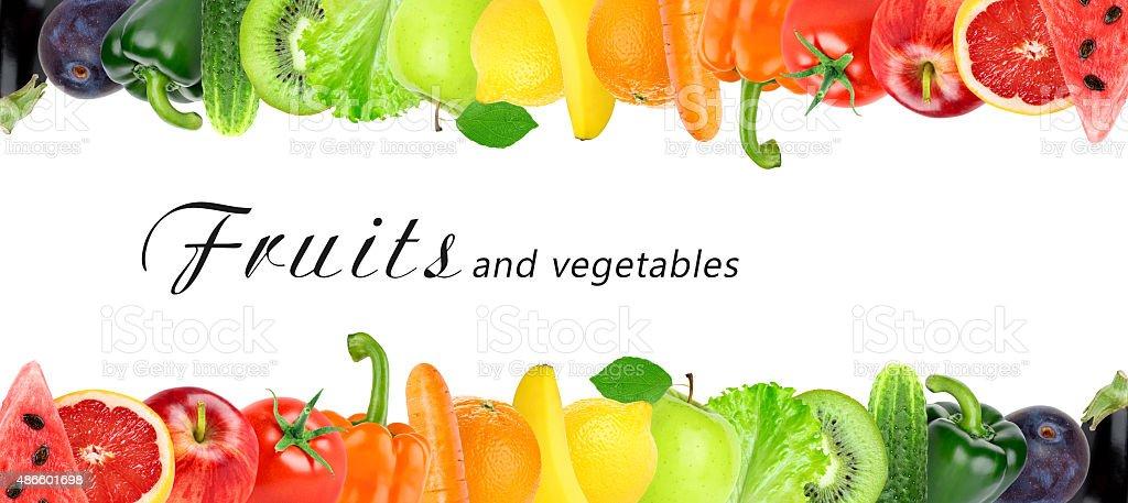 Frische Farbe aus Obst und Gemüse – Foto