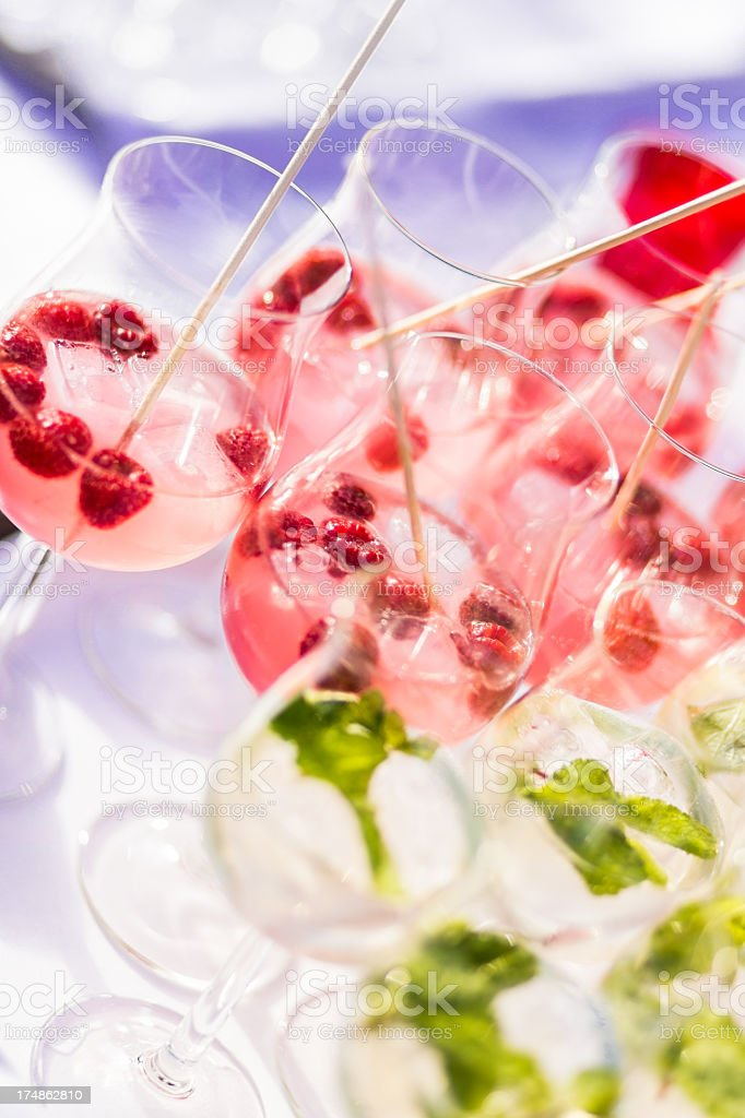 Fresh colorful drinks for the summer royalty-free stock photo
