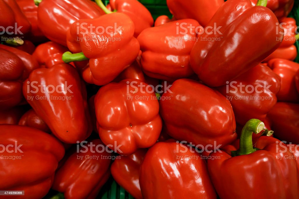 Fresh colorful paprika stock photo