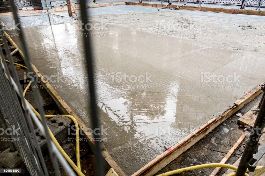 Fresh concrete stock photo