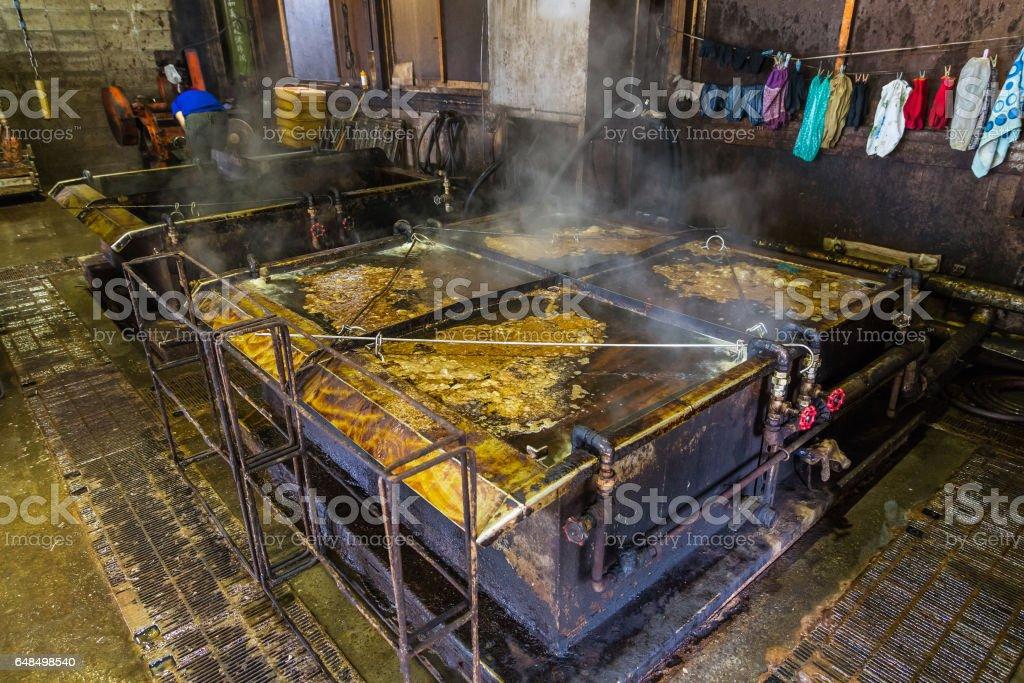 Fresh cook katsuobushi - smoked skipjack tuna stock photo