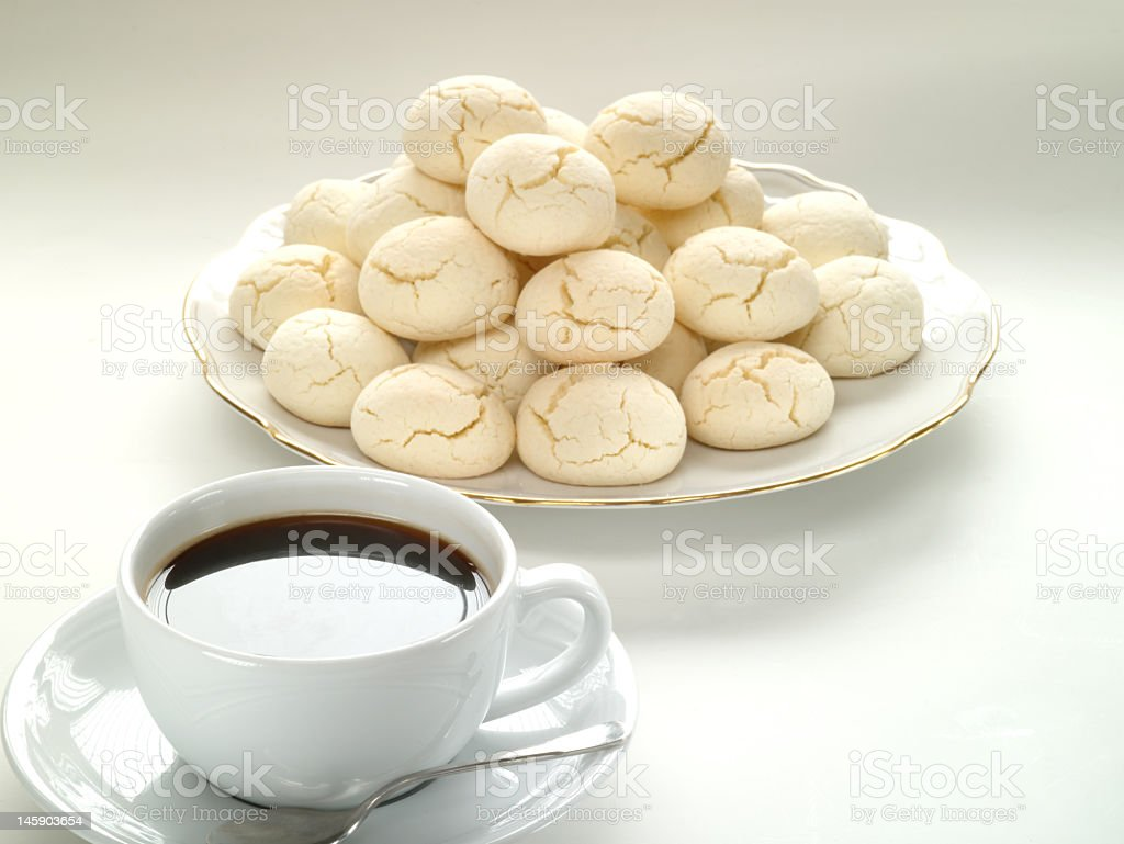 Fresh cookies and coffee royalty-free stock photo