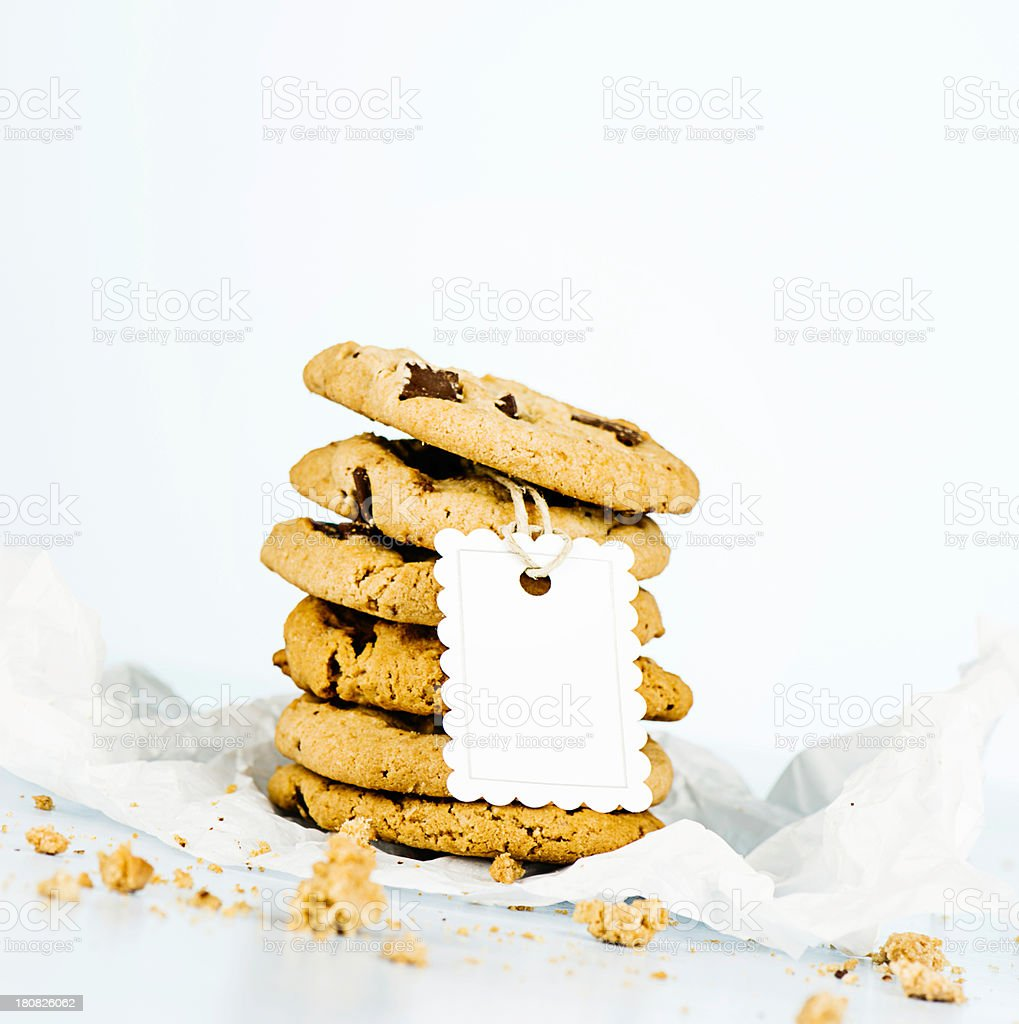 Fresh Cookies with Gift Tag royalty-free stock photo