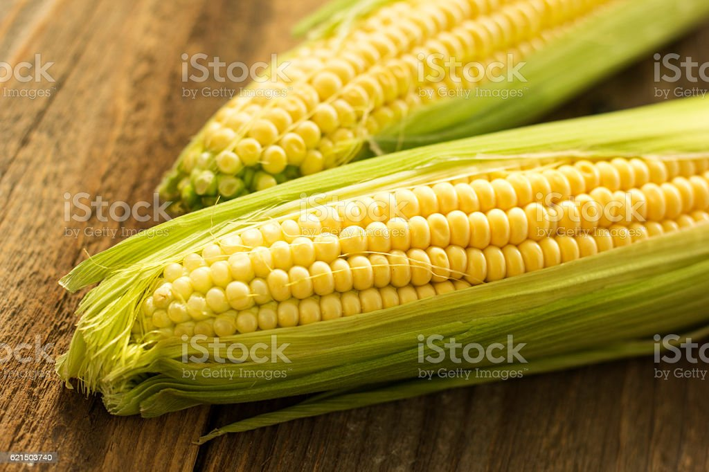 Fresh Corn On The Table. foto stock royalty-free