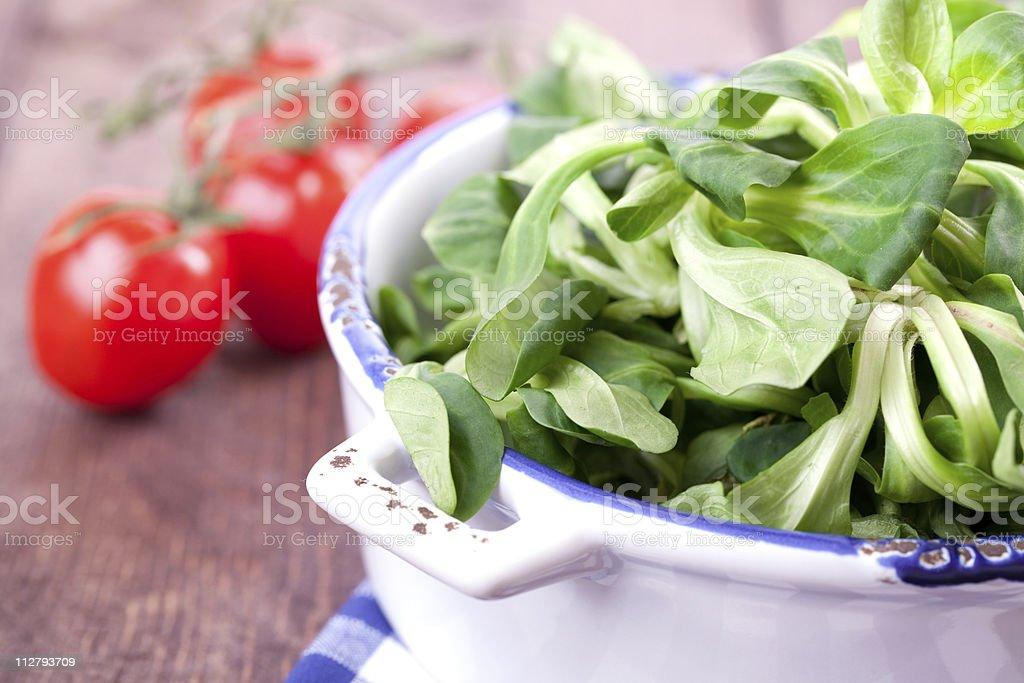 fresh corn salad royalty-free stock photo