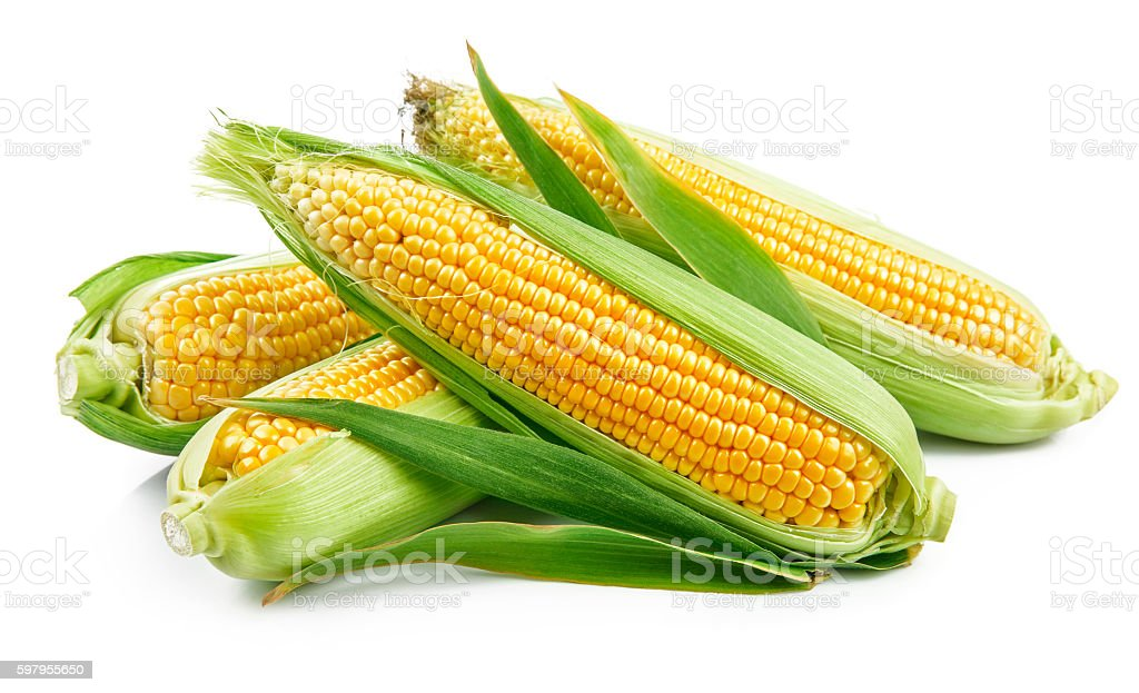 Fresh corn with green leaves still life vegetables - Royalty-free Alimentação Saudável Foto de stock