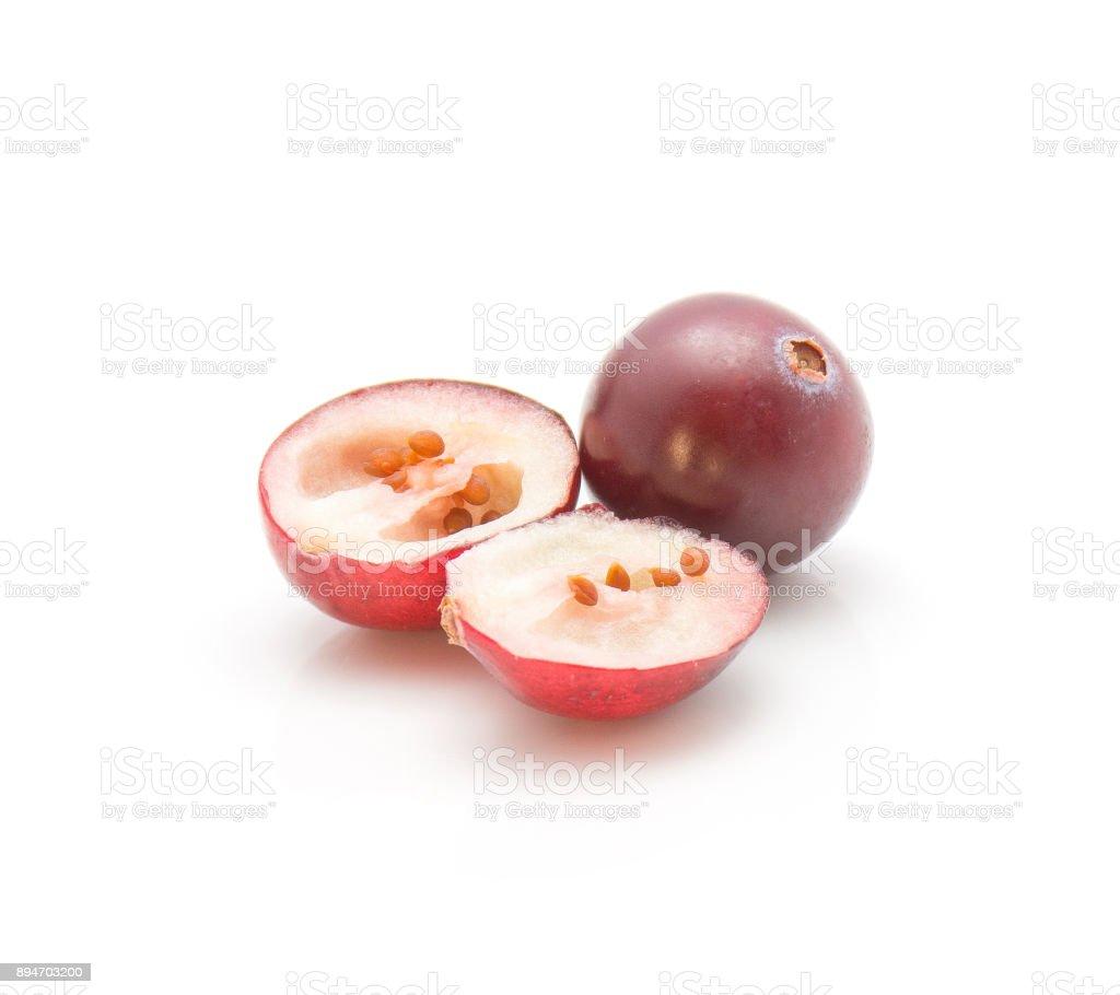 Fresh Cranberry isolated stock photo