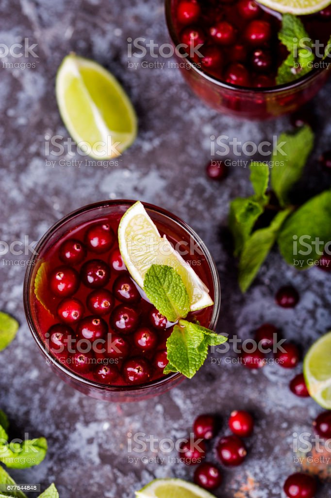 fresh cranberry juice in a glass royalty-free stock photo