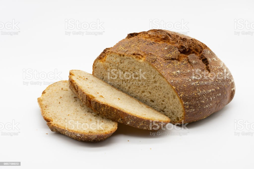 fresh crispy bread stock photo