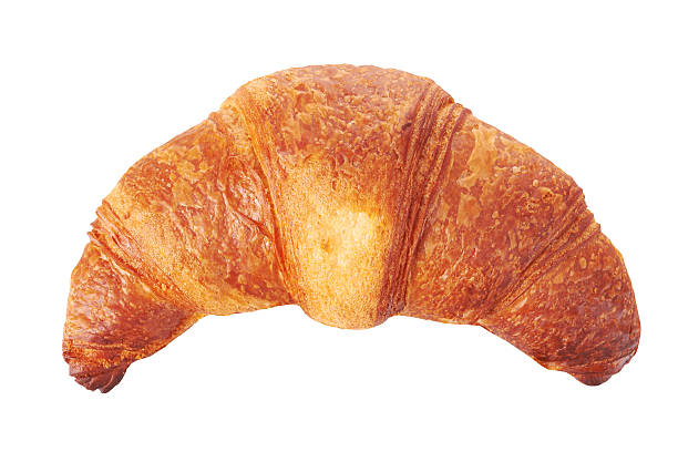 Fresh croissant Fresh croissant isolated on white background croissant stock pictures, royalty-free photos & images