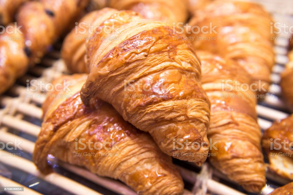fresh croissant stock photo