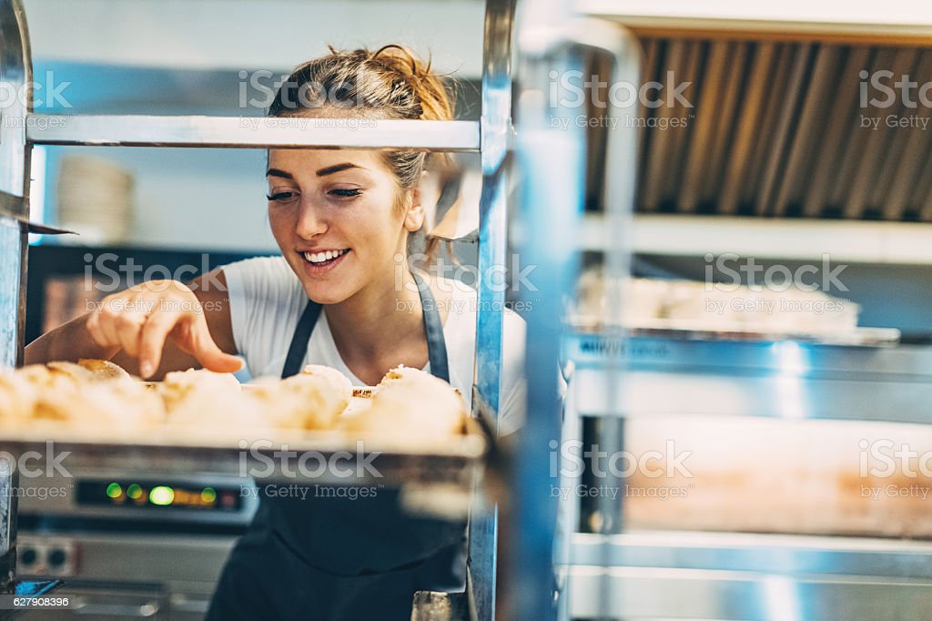 Fresh croissants stock photo