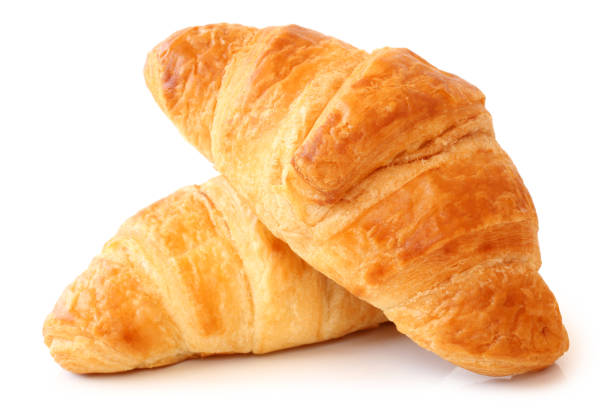 Fresh croissants Fresh croissants on white background croissant stock pictures, royalty-free photos & images
