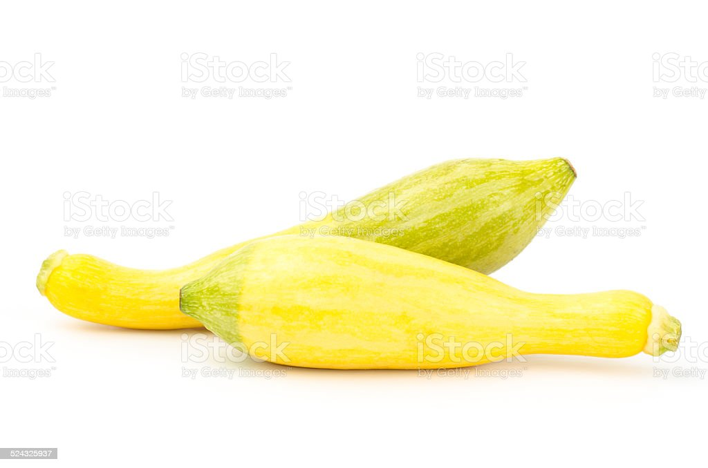 Fresh crookneck squash stock photo