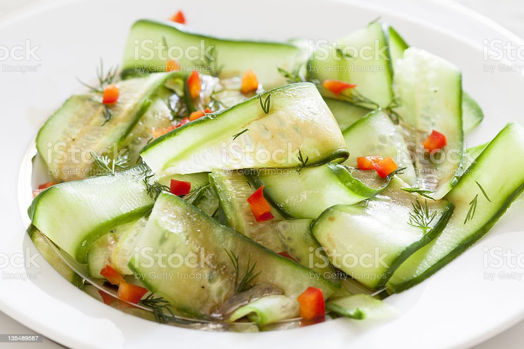 Fresh Cucumber and Pepper Salad royalty-free stock photo