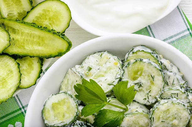 Image result for CUCUMBERS salad istock