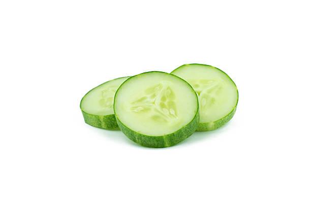 fresh cucumbers isolated on white stock photo