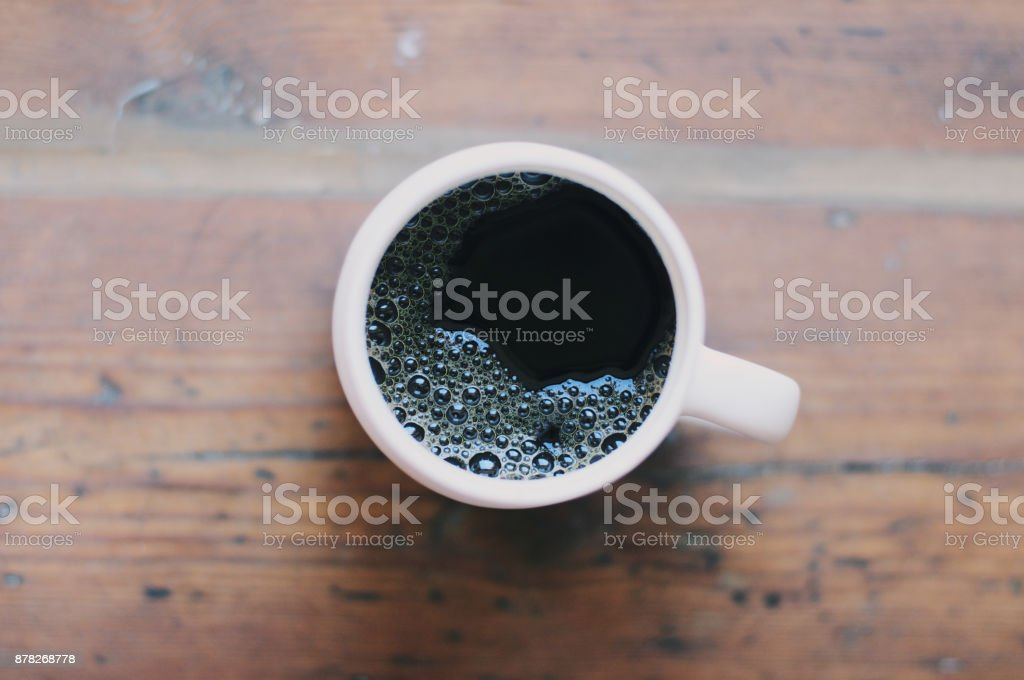 Fresh Cup of Black Coffee stock photo