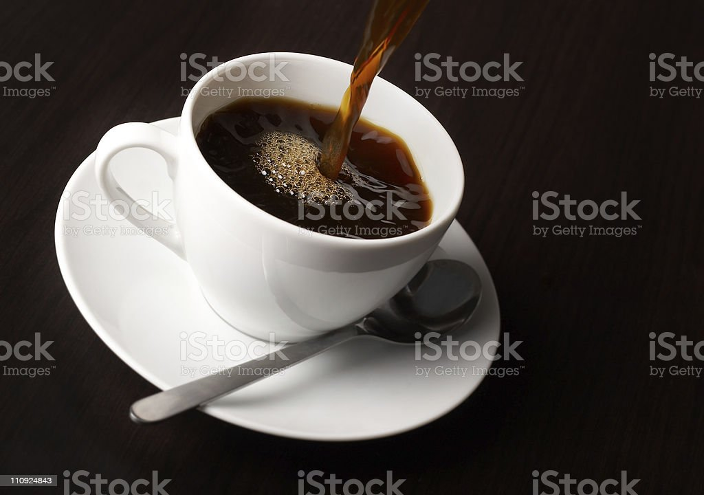 Fresh cup of coffee royalty-free stock photo