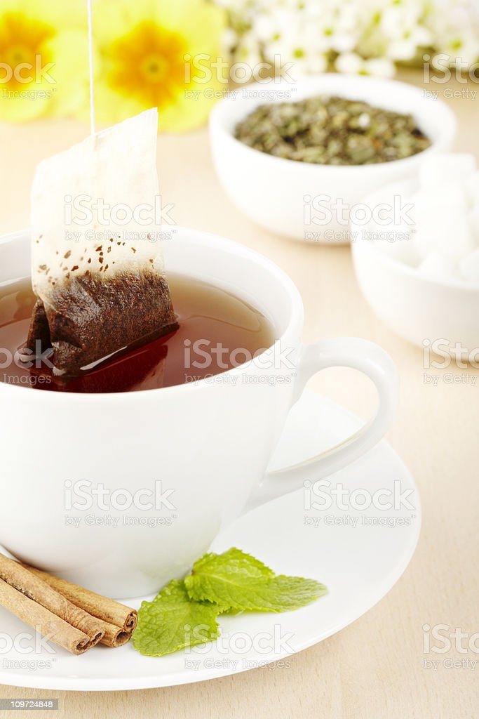 Fresh cup of tea royalty-free stock photo