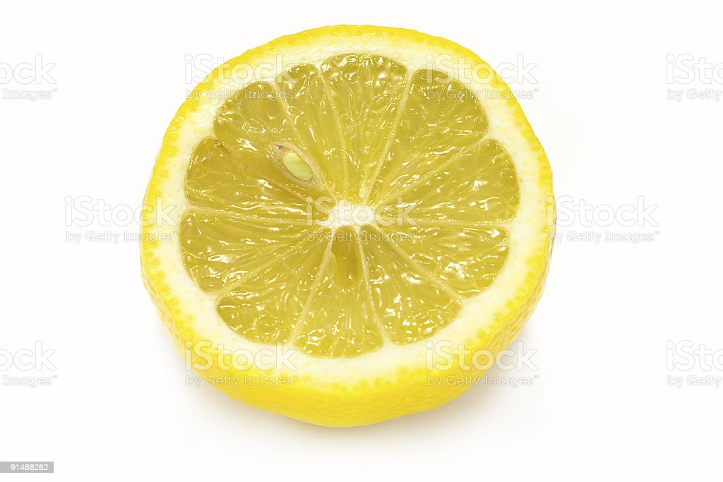 Fresh Cut Lemon royalty-free stock photo
