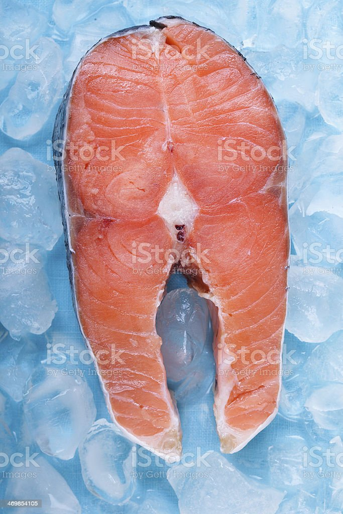 Fresh cut Salmon steaks royalty-free stock photo