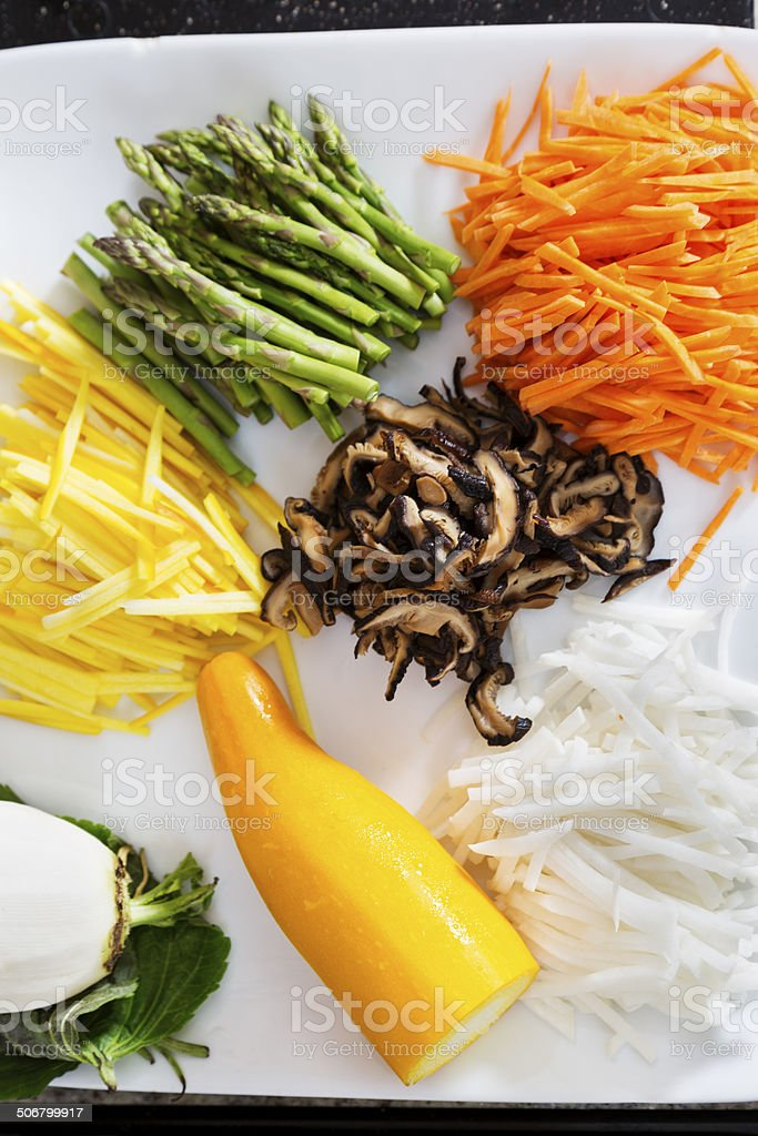 Fresh Cut Vegetables royalty-free stock photo