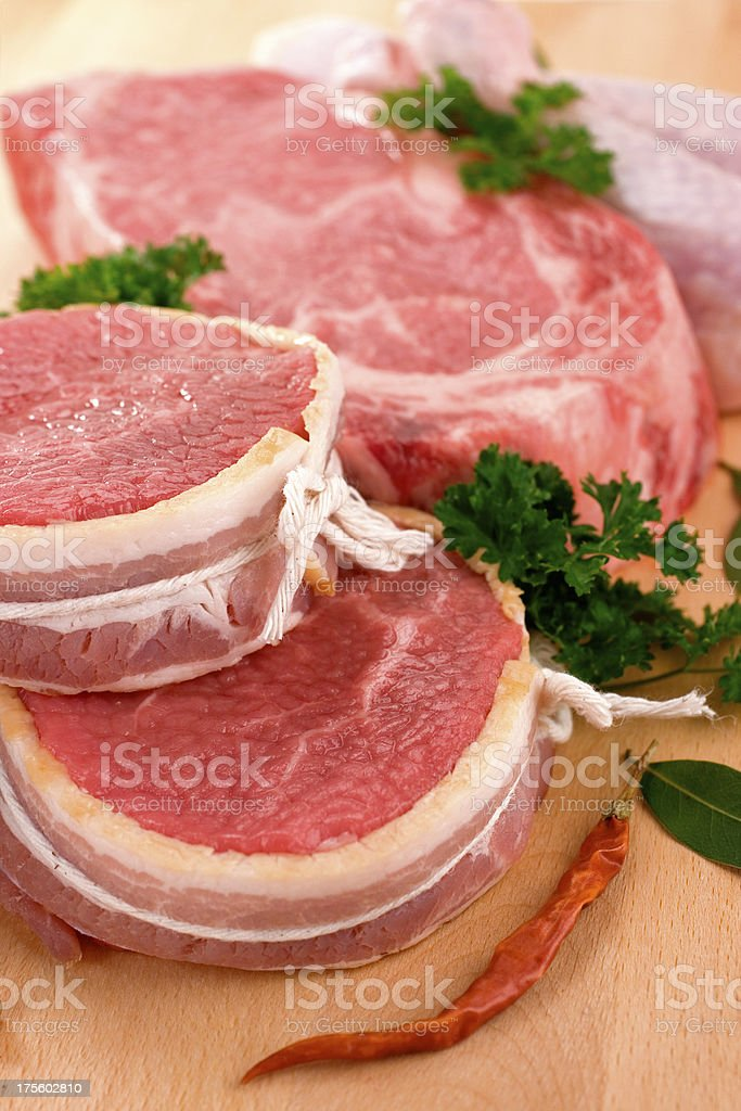 Fresh Cuts of Meat royalty-free stock photo