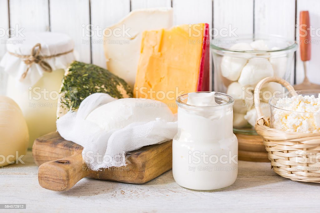 Fresh dairy product. stock photo
