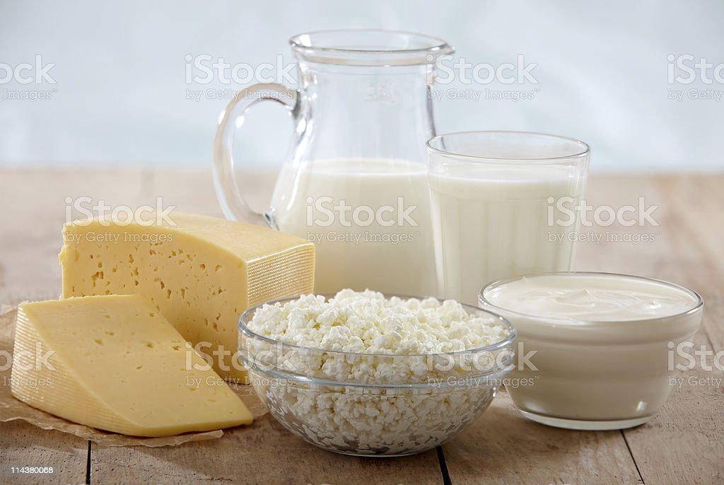 fresh dairy products royalty-free stock photo