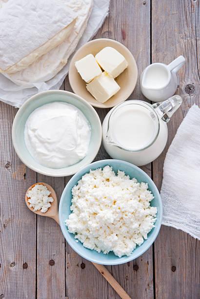 fresh dairy products - 奶類產品 個照片及圖片檔
