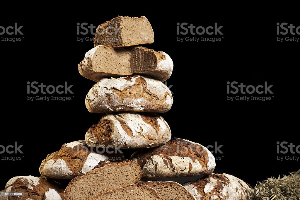 Fresh dark bread stock photo